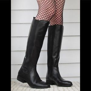 Sam Edelman paradox tall pull on black riding boot